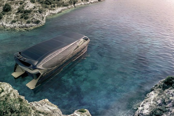 A solar yacht of last generation could go around the world in 6 months